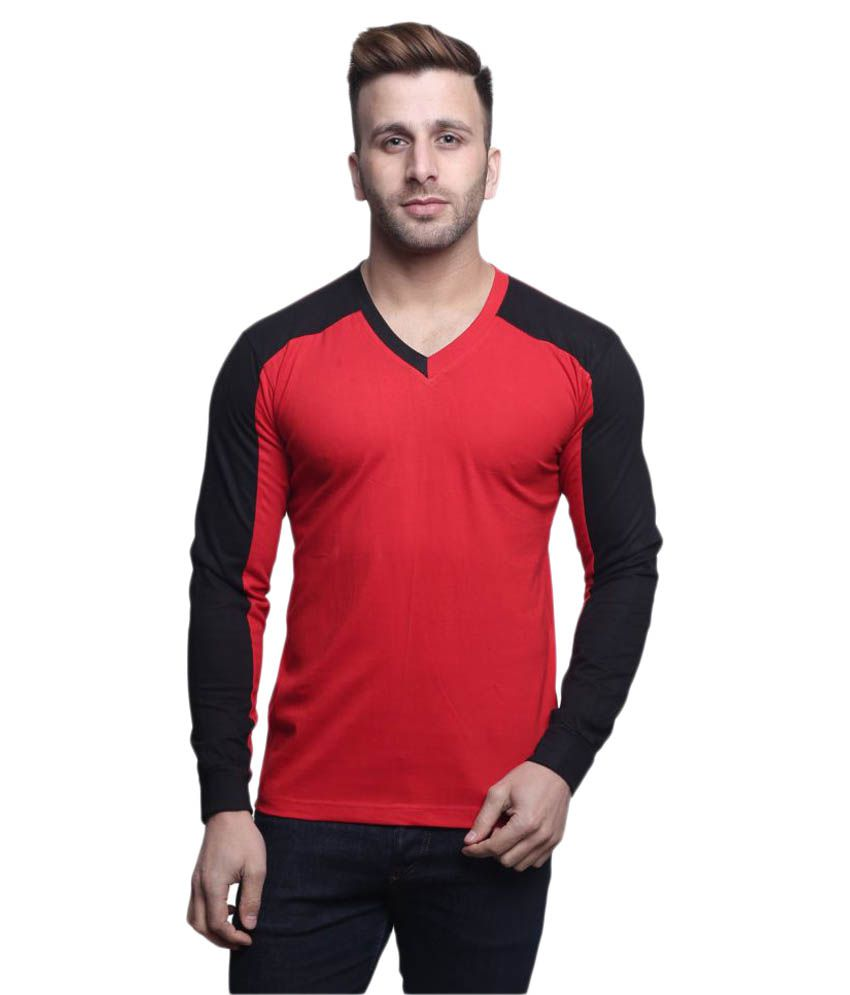 Leana Red V-Neck T-Shirt