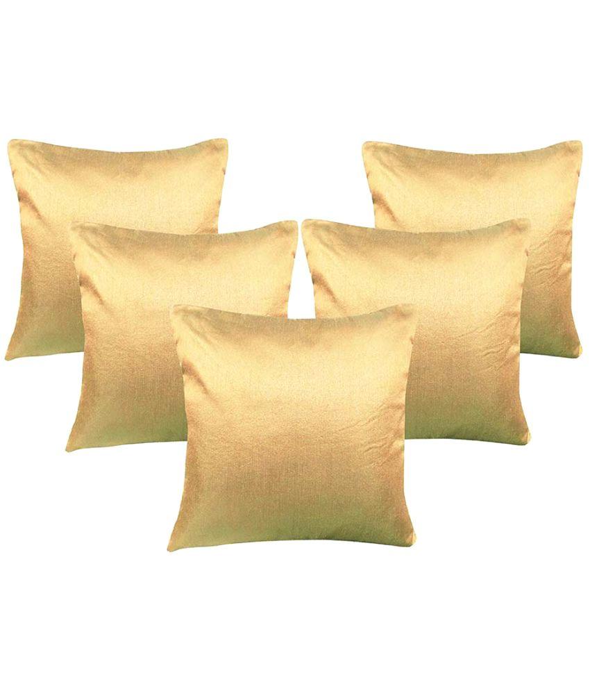 Msenterprises Set of 5 Polyester Cushion Covers 60X60 cm (24 X 24)