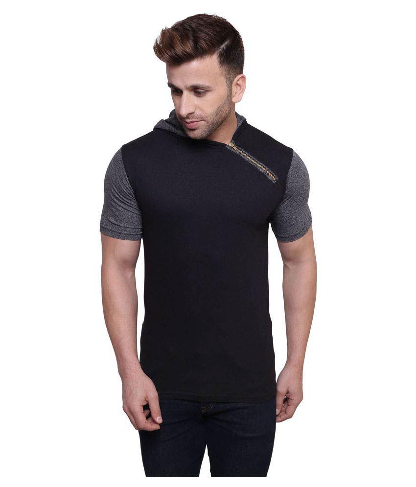 Color Opera Kreation Black Hooded T-Shirt