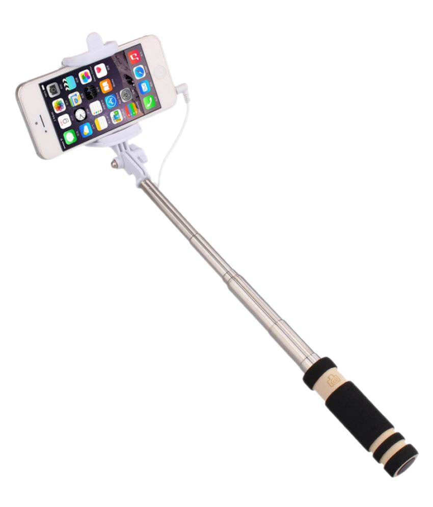 jiyanshi aux wire selfie stick black selfie sticks accessories onli. Black Bedroom Furniture Sets. Home Design Ideas