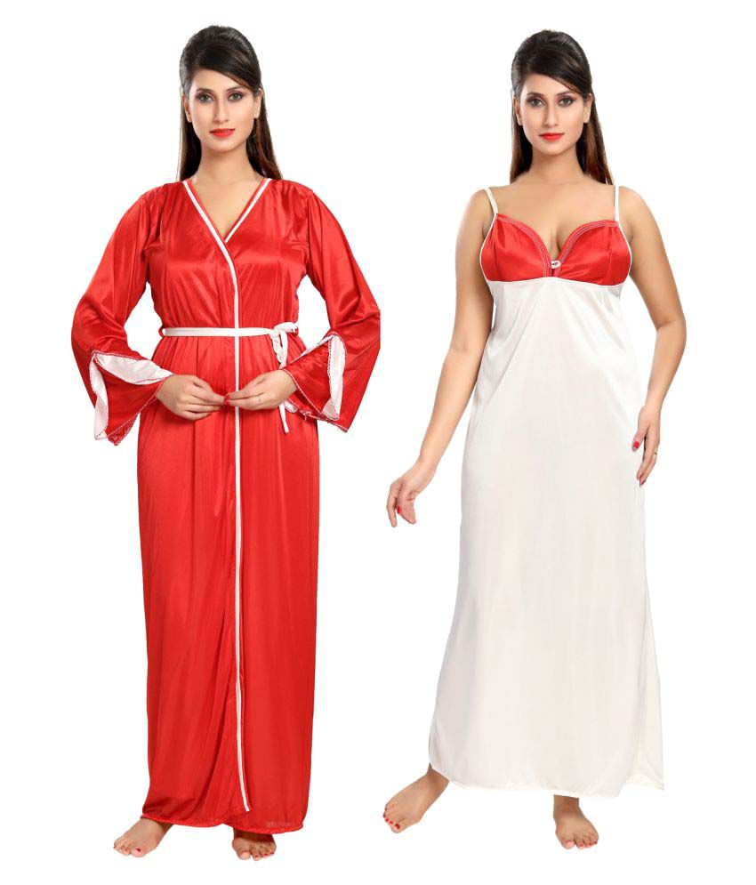 Buy Be You Satin Nighty with Robes Online at Best Prices in India - Snapdeal 1ceadb10a