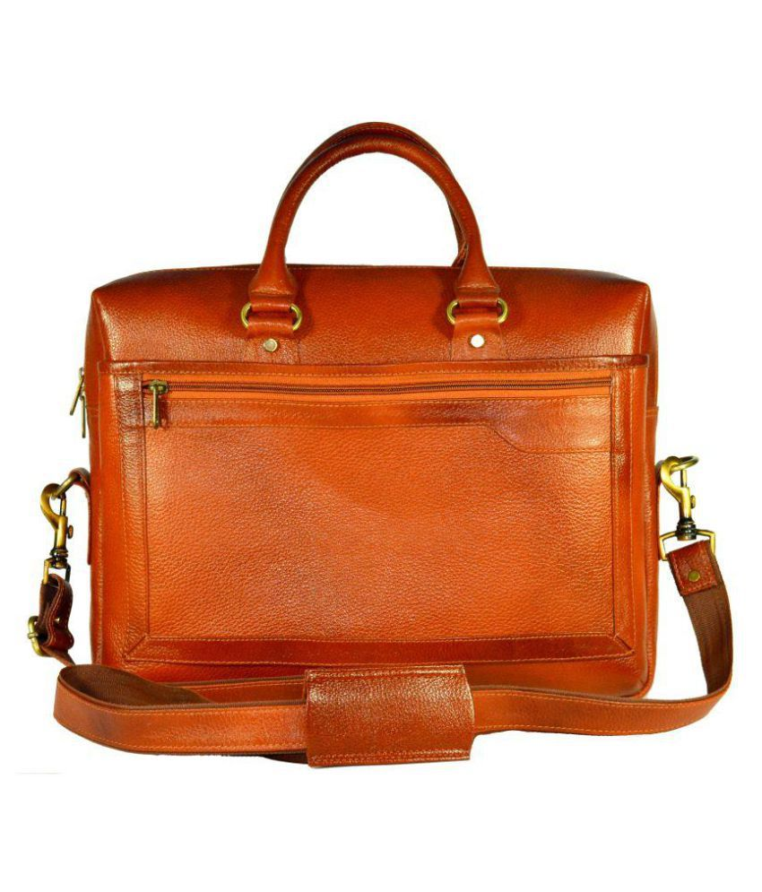 Adimani Brown Leather Office Bag