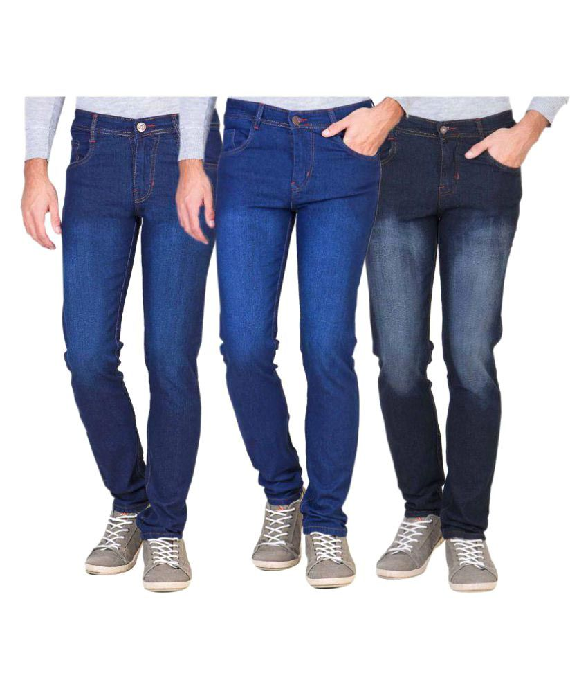 Laconic Multicolored Slim Jeans