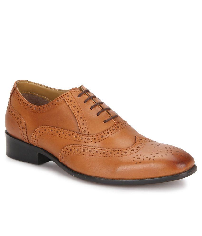 Carlton London Tan Formal Shoes at snapdeal