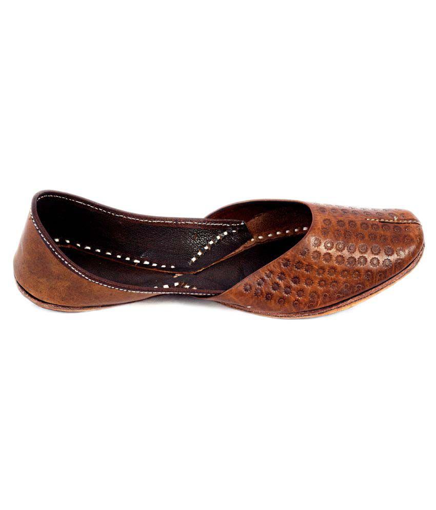 Rajotsav Brown Flat Ethnic Footwear