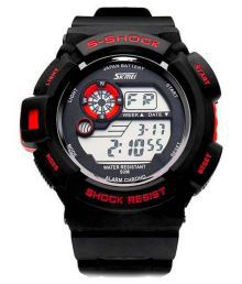 Skmei Black Digital Watch For Men