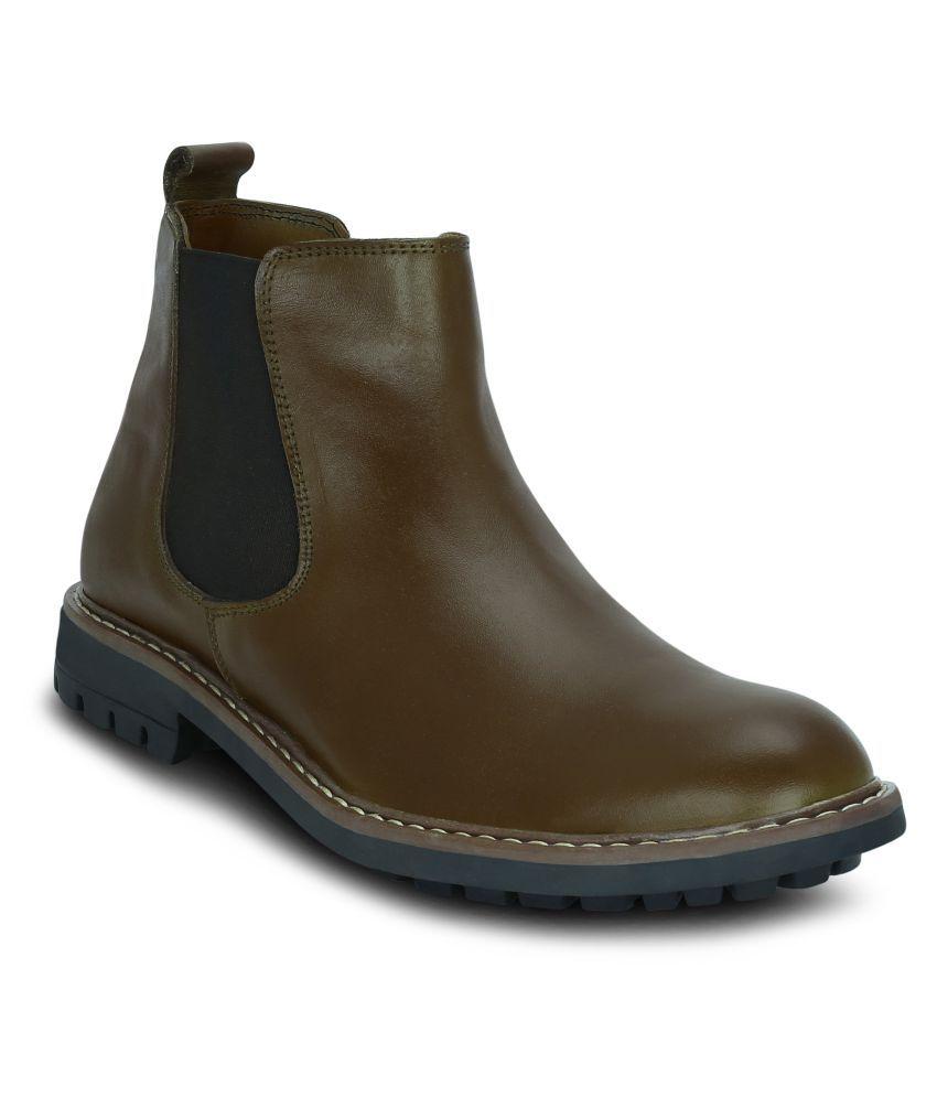 Get Glamr Tan Chelsea boot