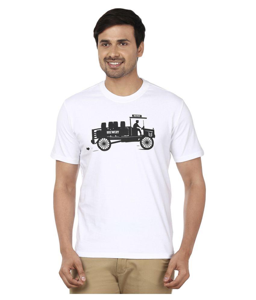 Ruse White Round T-Shirt