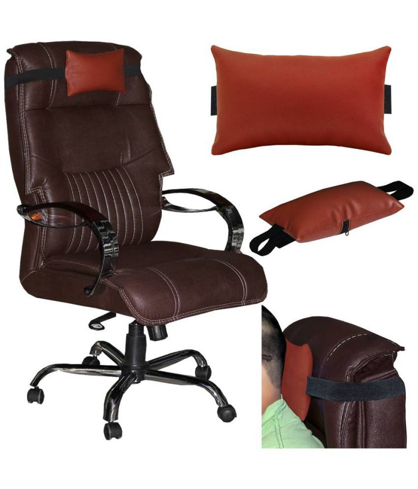ACM Single Brown Faux Leather Filled Chair Cushion
