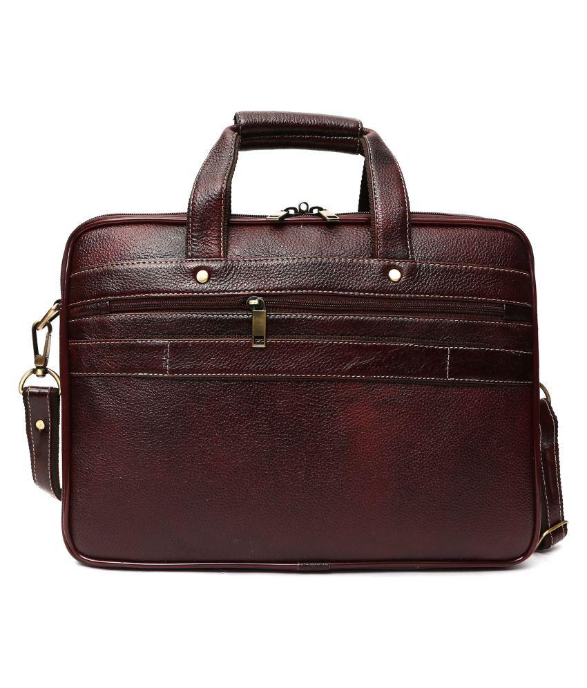 6de2779195 ... Hammonds Flycatcher Brown Genuine Leather Office Bag Sling Bag for Men  & Women/Side ...