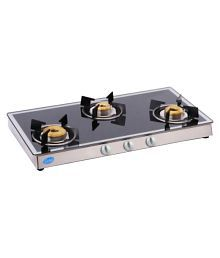 Glen GL 1038 GT Forged BB Mirror 3 Burner Manual Gas Stove