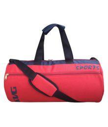 Kvg Red Medium Polyester Gym Bag