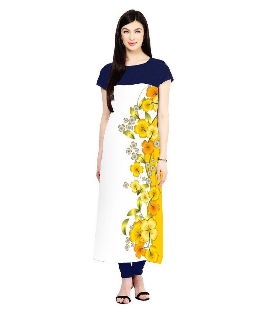 Vivan Fashion Multicoloured Rayon Straight Kurti
