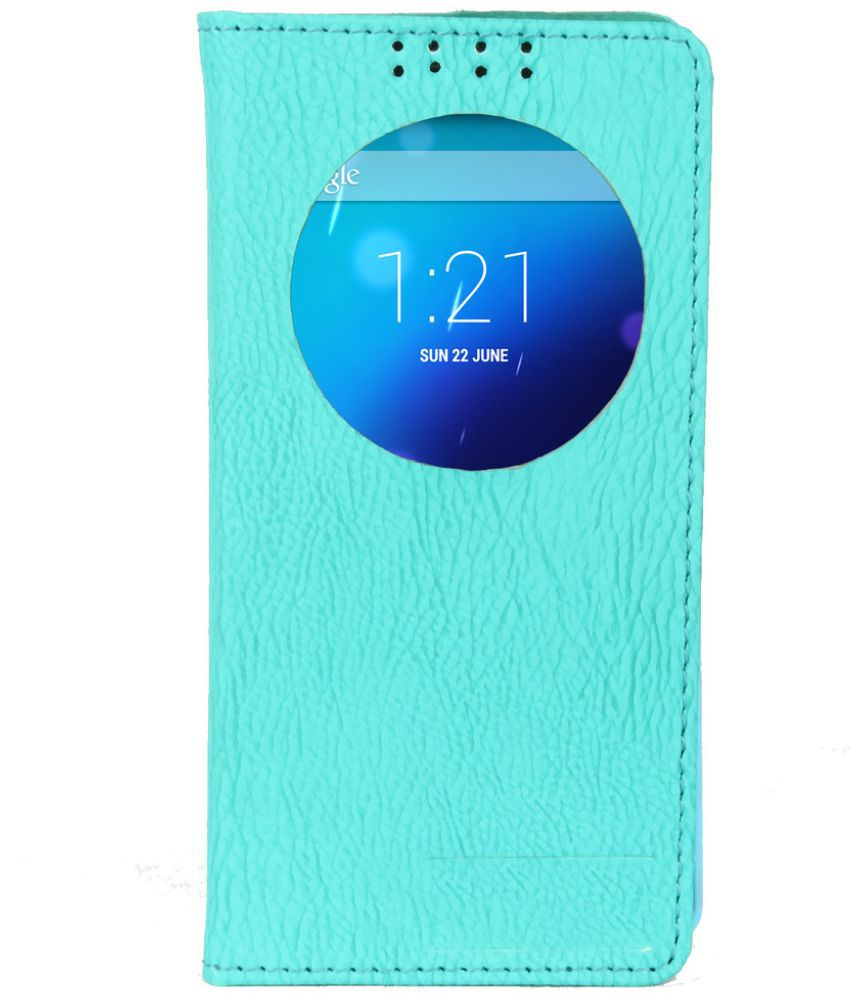 Gionee Elife E7 Flip Cover by Dsas - Blue
