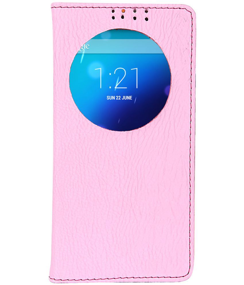 Gionee M2 Flip Cover by Dsas - Pink