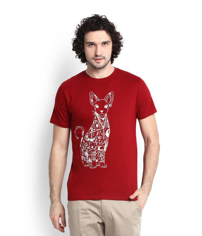 FCUK Red Round T-Shirt
