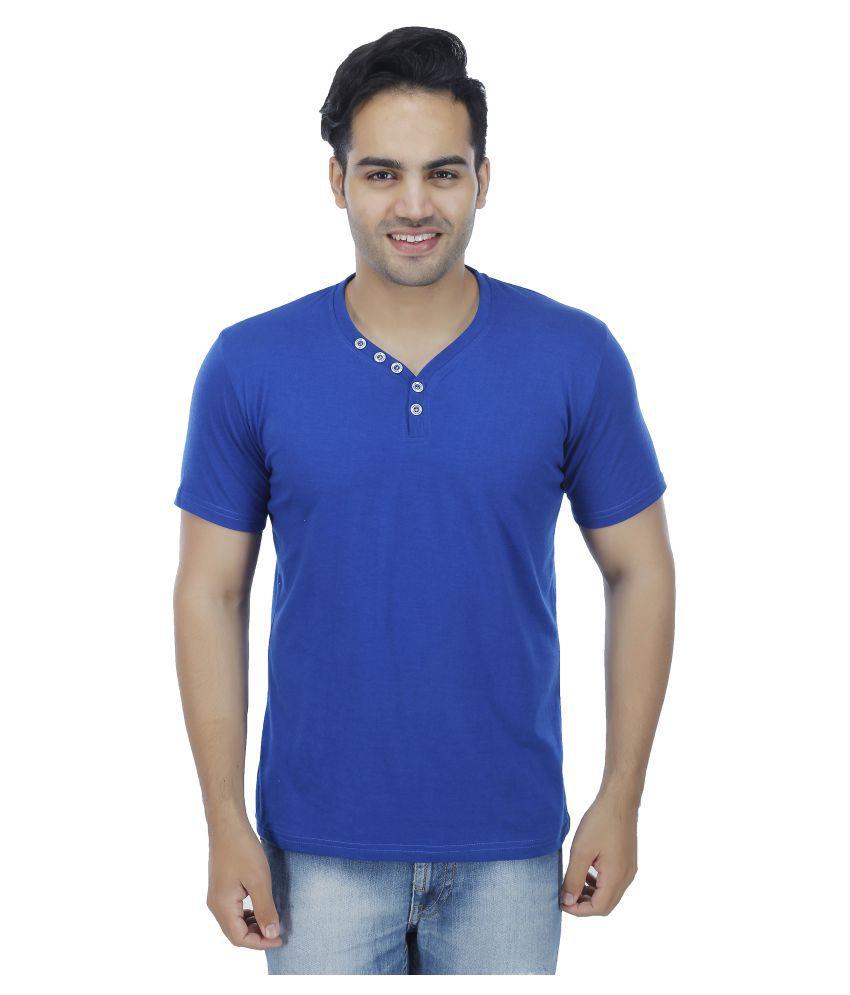 Christy World Blue V-Neck T-Shirt