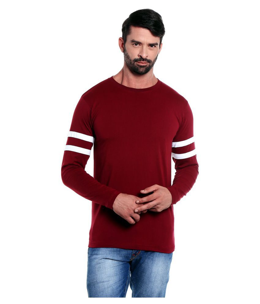The Dry State Maroon Round T-Shirt