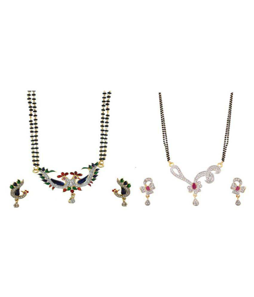 RZ Oddish Multicolor Mangalsutra Set - Pack of 2