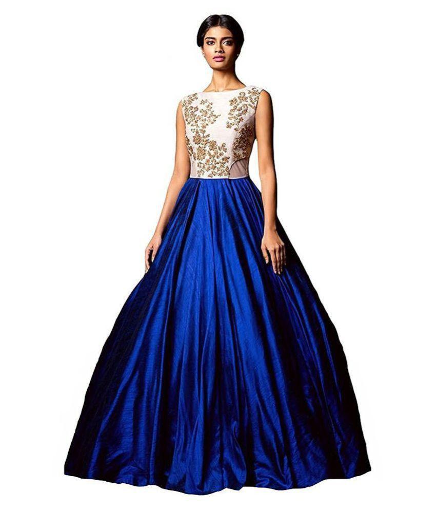 Fashion Web Silk Gown - Buy Fashion Web Silk Gown Online at Best ...