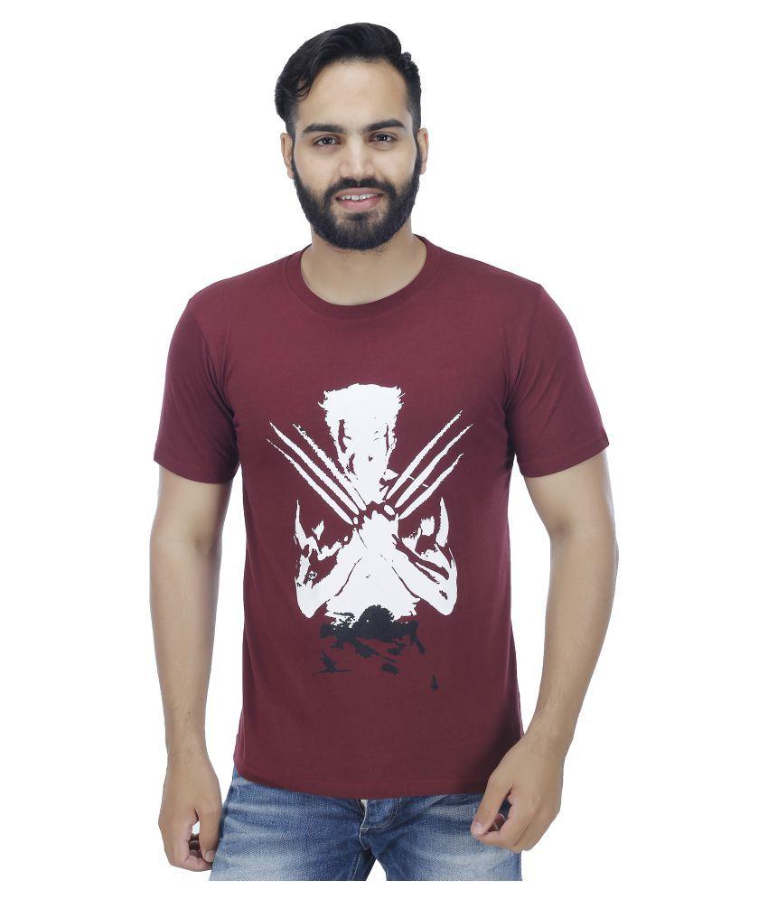 ESS Bee Maroon Round T-Shirt