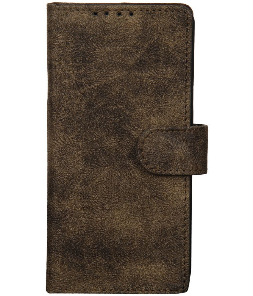 Apple iPhone 5S Flip Cover by Dsas - Brown