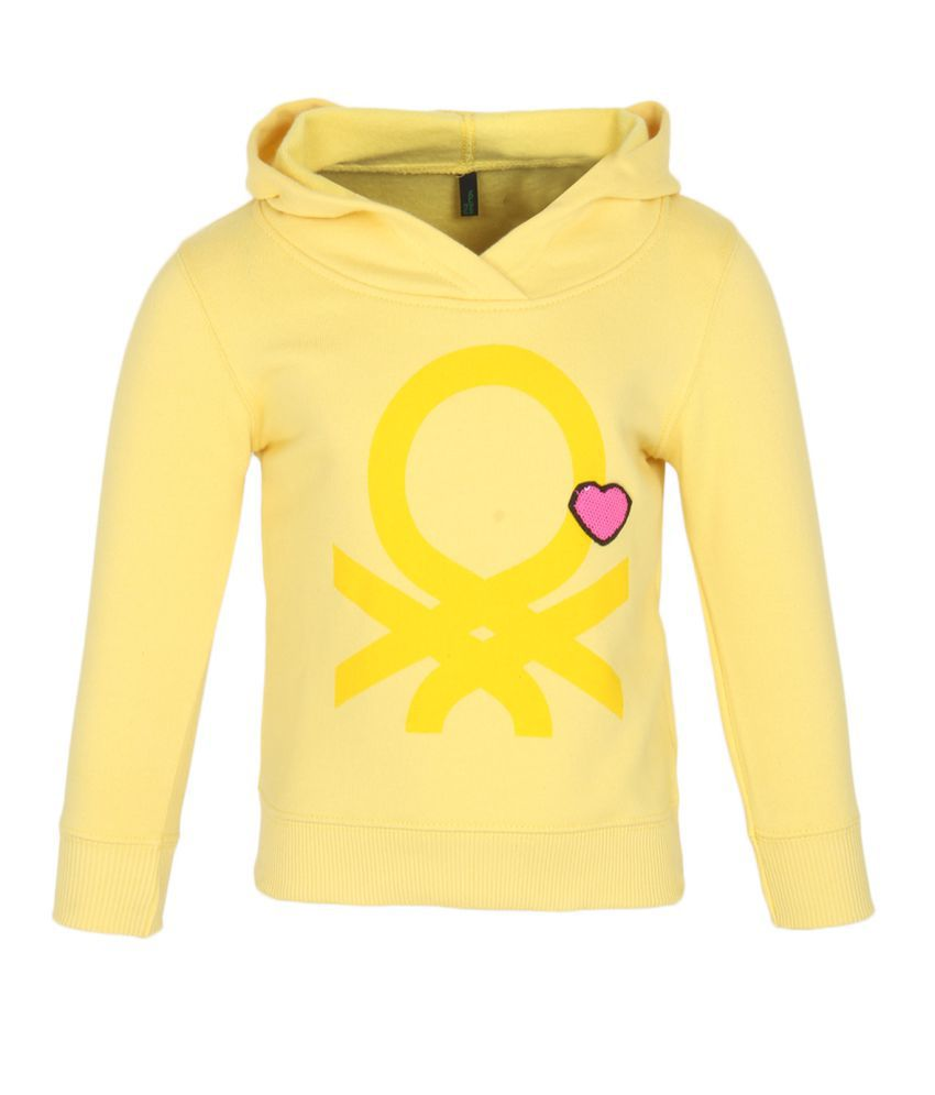 United Colors Of Benetton Yellow Sweatshirts