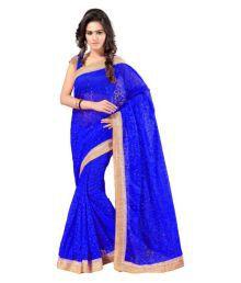 Aruna Sarees Blue Brasso Saree