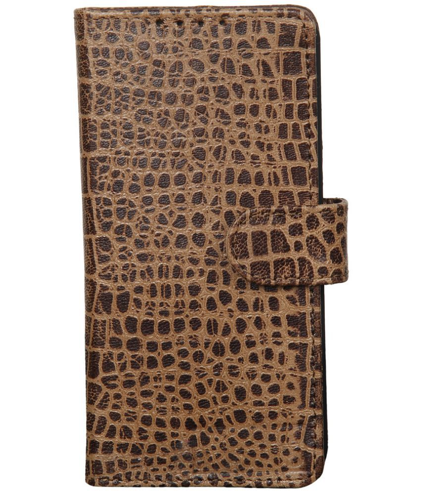 Apple iPhone SE Flip Cover by Dsas - Brown