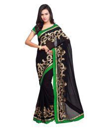 Aruna Sarees Black Chiffon Saree