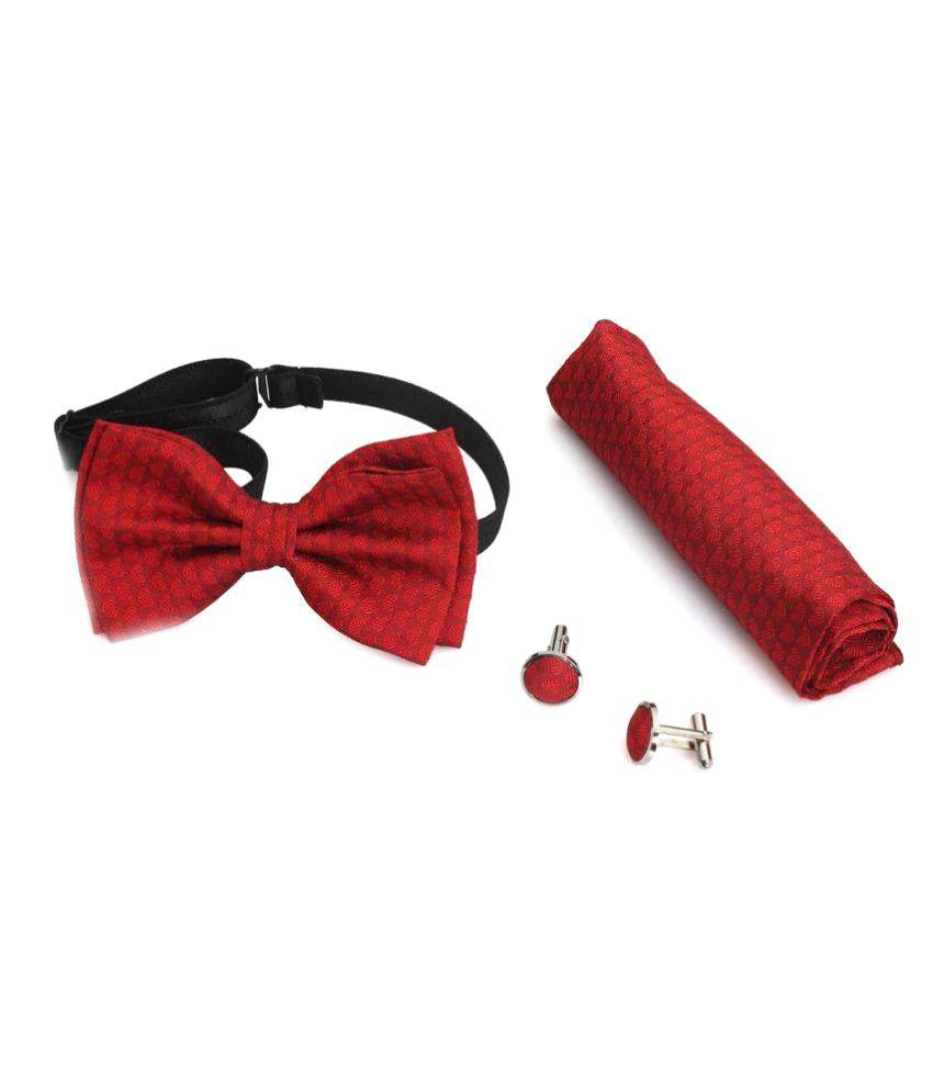 Maruti Tie Red Party Bow Tie