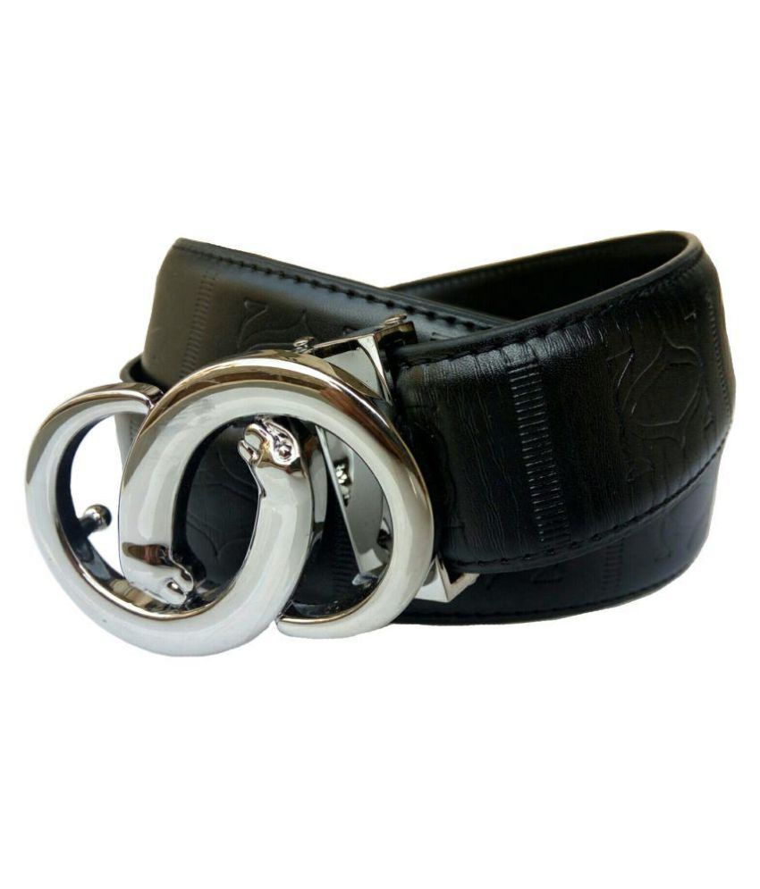Rabbit Black Leather Formal Belts