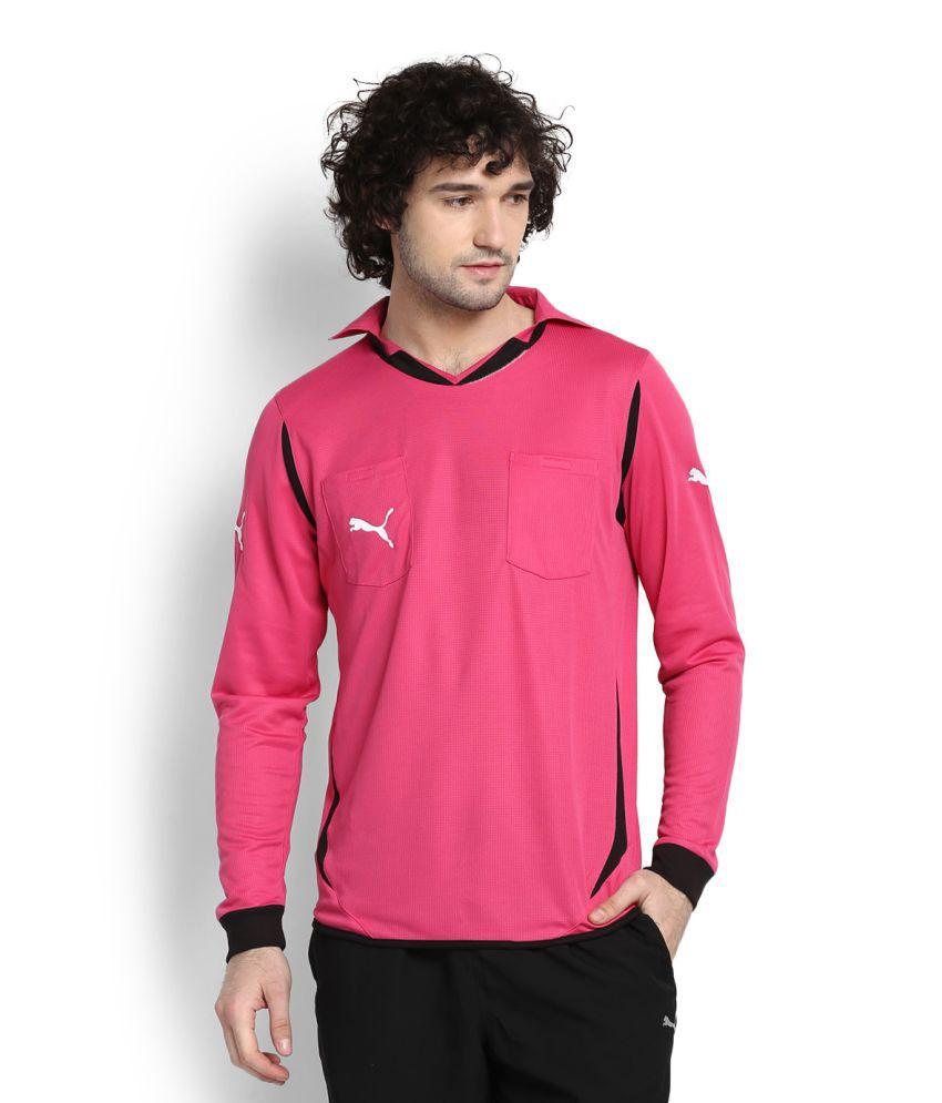 Puma Pink V Neck T Shirt Buy Puma Pink V Neck T Shirt