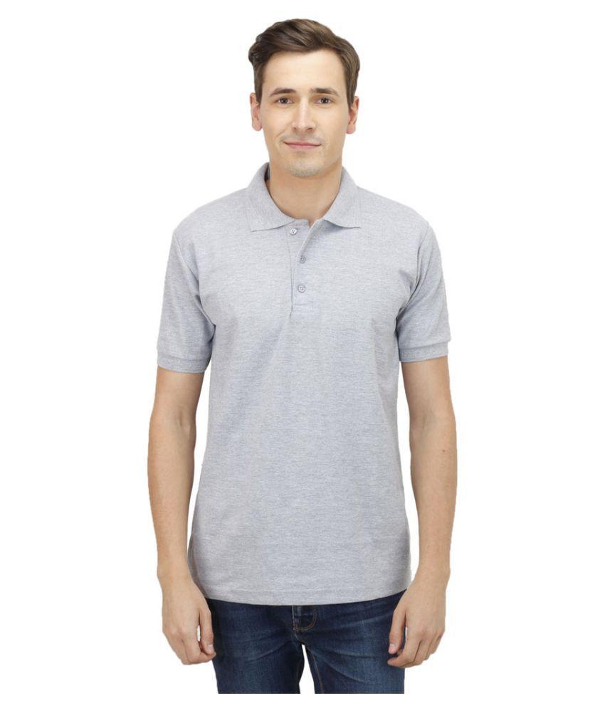 Haltung Grey Cotton Polo T-shirt