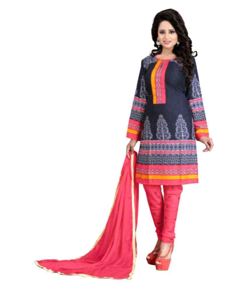 Hi-Fashion Multicoloured Chiffon Dress Material