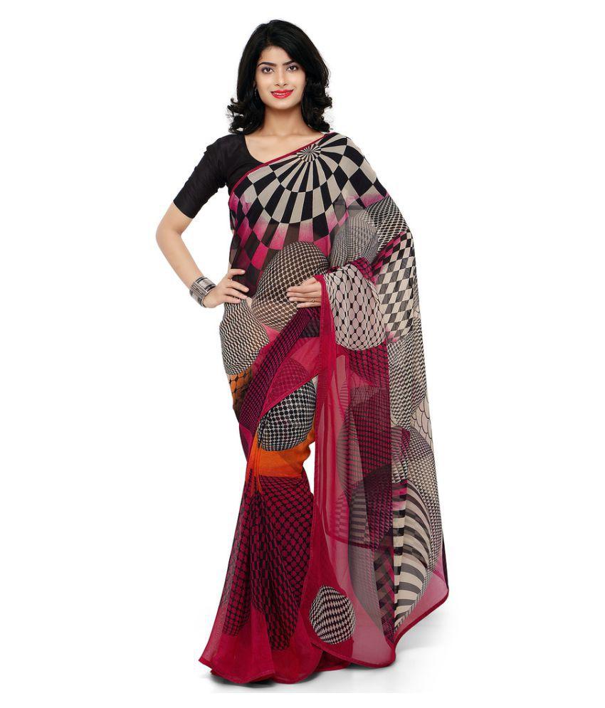 Aradhya Multicoloured Georgette Saree
