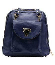 Trendy Blue P.u. Backpack