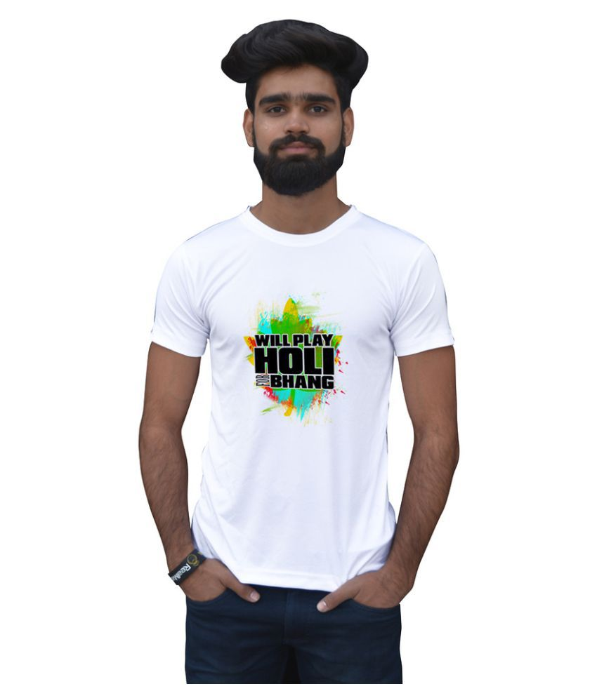 Stybuzz White Round T-Shirt