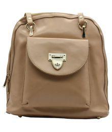 Trendy Brown P.u. Backpack