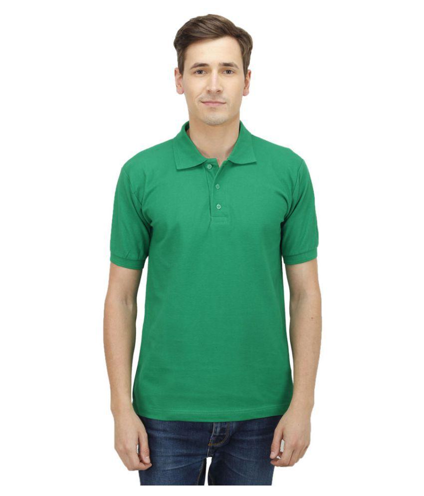 Haltung Green Cotton Polo T-shirt
