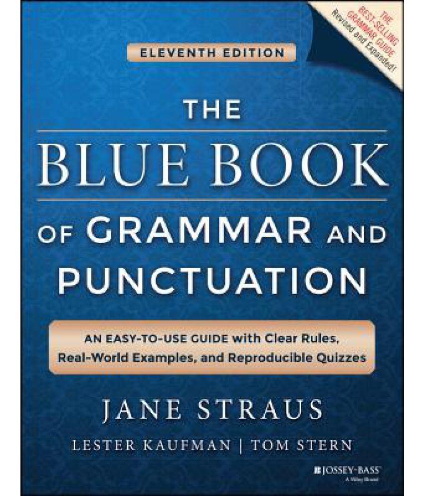 Workbooks grammar and punctuation workbook : The Blue Book of Grammar and Punctuation: Buy The Blue Book of ...