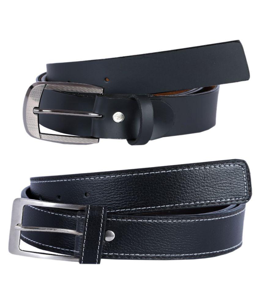 Kritika'S World Black Leather Casual Belts