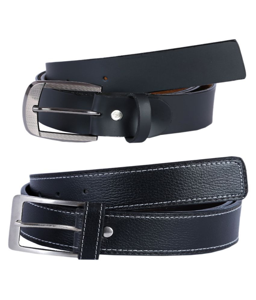Kritika'S World Black Leather Casual Belts