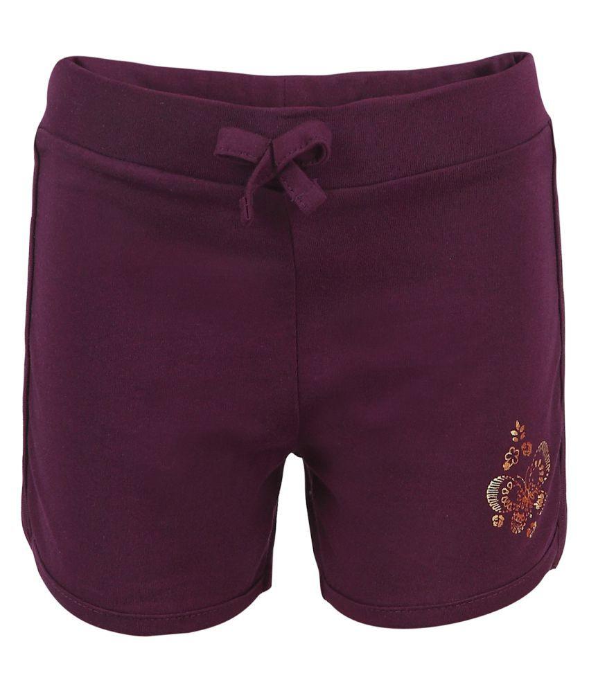 Ctee Purple Cotton Hot Pant