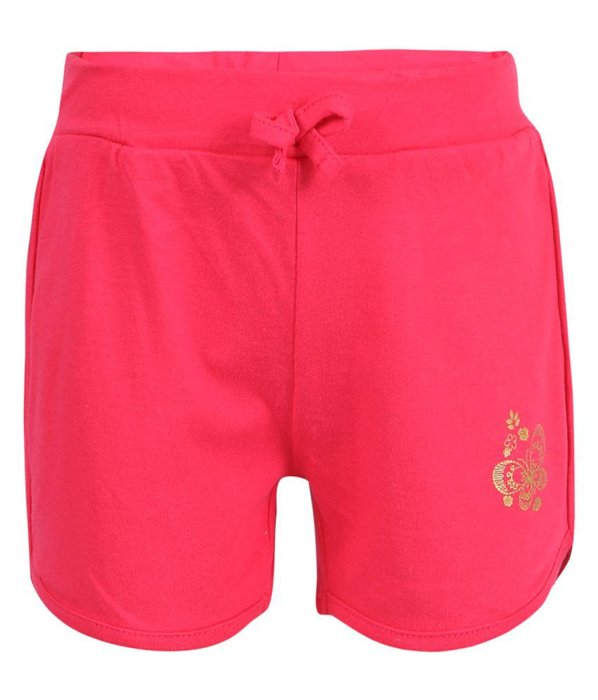 Pink & Blue Pink Cotton Shorts
