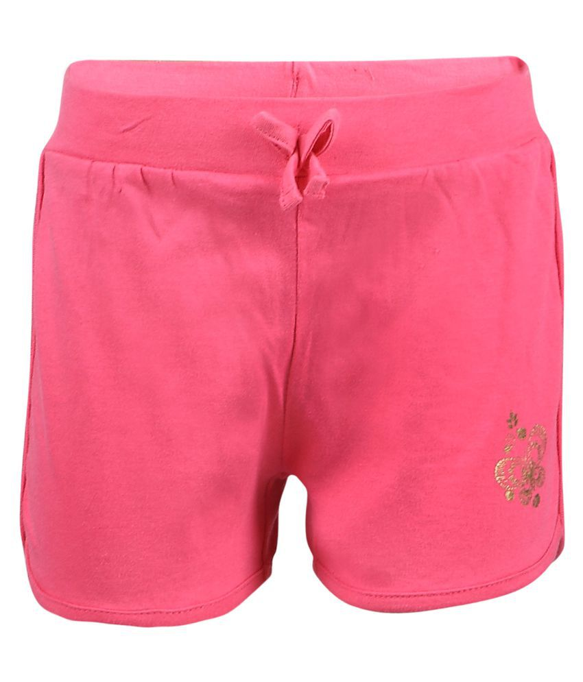 Pink & Blue Pink Cotton Shorts