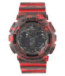 Casio G579 G-Shock Red Analog-Digital Watch for Men