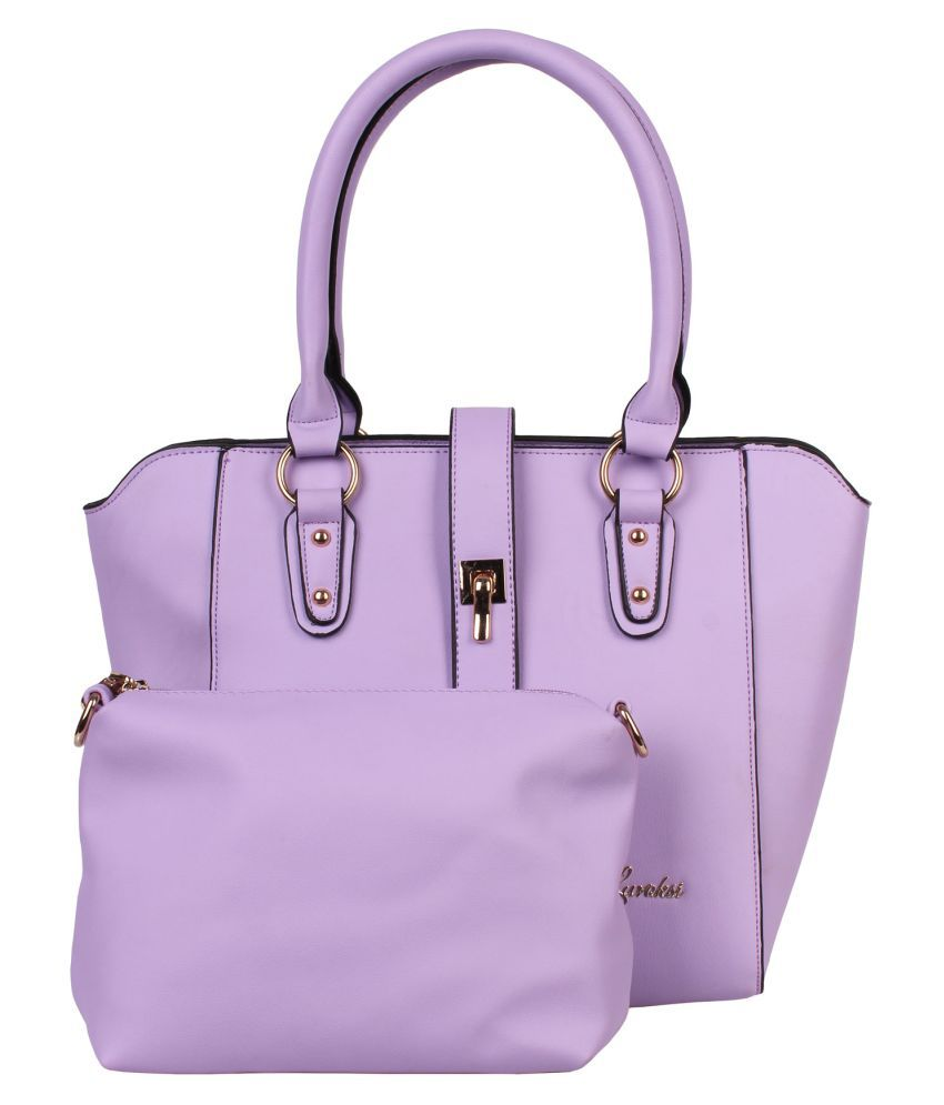 Luvoksi Purple Faux Leather Shoulder Bag