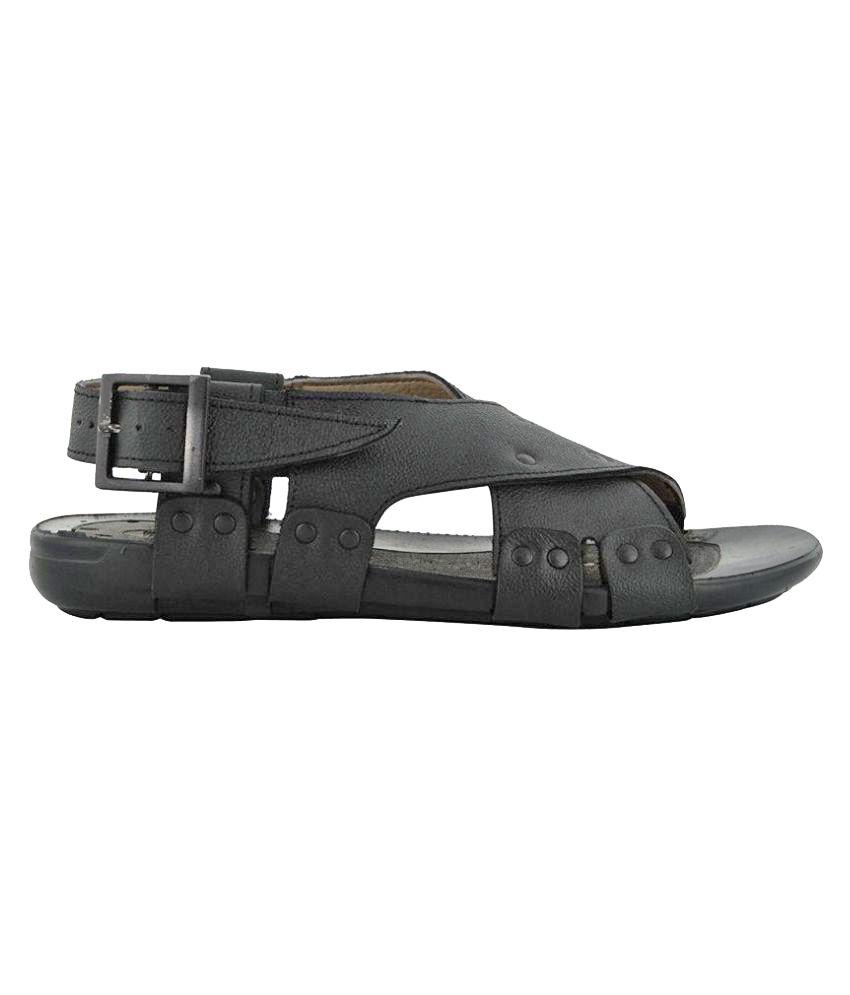 fe3ea35acab657 Lee Graim 1208 Black Sandals Price in India- Buy Lee Graim 1208 ...