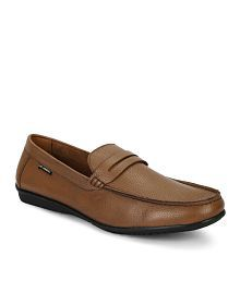 Lee Cooper Tan Slip On Genuine Leather Formal Shoes